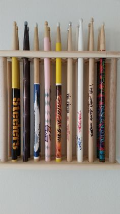 drum stick display drumstick holder hold 36 pair custom made new solid wood solid wood. Black Bedroom Furniture Sets. Home Design Ideas