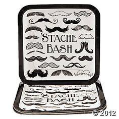 Moustache Party Dinner Plates