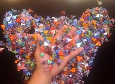from my Heart. to my hands. Here's a handful to pass around. *note* due to longevity of glass many of these Hearts could still be around thousands of years after I am gone. & by Hillel Rzepka. Heart Collage, Teenage Dream, Be Still, Glass Art, Hearts, Notes, Ads, Handmade, Report Cards