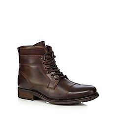 RJR.John Rocha - Dark brown leather toe cap boots