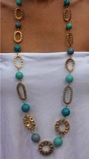 Turquoise Long Necklace  Great little site on FB - I Love Jewerly Too! $30