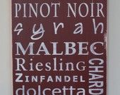 Wine list decor