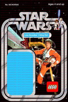 Lego Card Back Red Custom Star Wars Vintage 20-Back Snaggletooth
