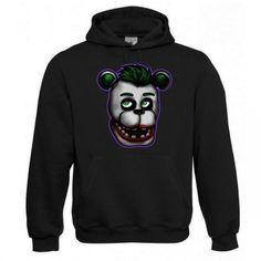 "Kapuzen Sweatshirt ""Joker Bär"" Fruit of the Loom, Beuteltasche, 80% Baumwolle"