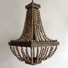 Curious Sofa - Wooden Bead Chandelier