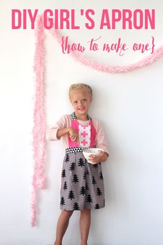 little girl's apron sewing tutorial!