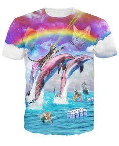 631dd42fcda5 Rainbow Dolphin Kitty TShirt  24.95  kittens  meow  cutecat  catlover   kitty