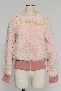 Emily Temple cute pink fur jacket