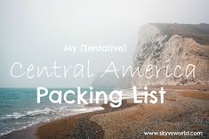 Here's what (I think) I'm packing for a trip to Central America!
