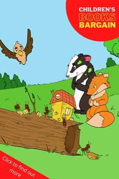 """Be Special. Be Yourself. Titus the badger, Finn the falcon, and Shylow the fox help a little ant named Wendy. She is unhappy with her ant-like existence and wants to be different. Everything seems boring to her. But Finn has an idea. If you and your children like courageous animals and """"special"""" creativity, then you'll love this charming kid's story. Children's book for ages 3+ Chapter Books, Children's Literature, Stories For Kids, Age 3, Badger, Read Aloud, Ants, Childrens Books, Good Books"""