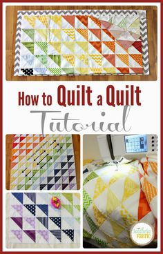 We are excited to share with you the quick and easy way to quilt a quilt at your home. Quilting Board, Quilting Tips, Quilting Tutorials, Quilting Projects, Quilting Designs, Sewing Projects, Sewing Tutorials, Sewing Ideas, Sewing Machine Quilting