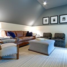 Slanted ceiling rooms on pinterest slanted ceiling new for Painting rooms with angled ceilings