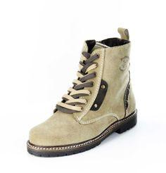 """Unser #Schuh des Tages: Du suchst einen stabilen Schuh mit gutem #Profil in #Trachten #Optik? Was hältst du von unserem """"Gössl""""? Bergheimer #Trachtenschuhe, #Damen Trachten #Stiefeletten – Gössl – beige; in 360° Ansicht"""