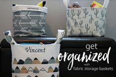 Get Organized with Fabric Storage Baskets
