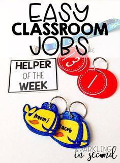 Classroom jobs can b