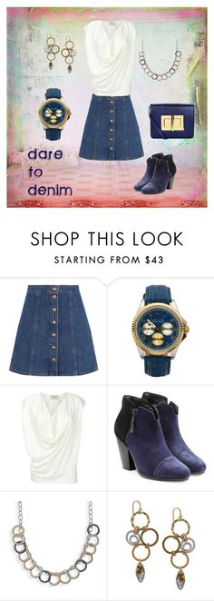 """""""dare to denim - polyvore contest"""" by nbeaudry on Polyvore featuring J.Crew, ELLE Time & Jewelry, rag & bone, BillyTheTree, 1928 and Tom Ford"""