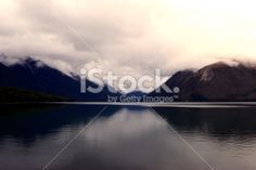 Cloudy Evening on Lake Rotoiti, Nelson Lakes National Park, NZ Royalty Free Stock Photo