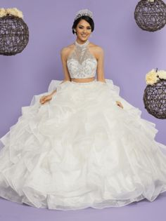 9b22e0f305a 58 Best Quinceanera Dresses White images