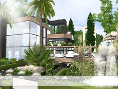 Modern Canyon House by Pralinesims - Sims 3 Downloads CC Caboodle