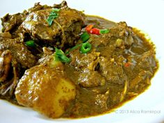 The Inner Gourmet: Guyanese Chicken Curry. I believe the seasoning mentioned in the recipe is Green Seasoning.