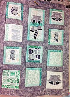 Raccoon quilt, from the book Anita's Playhouse, Anita Goodesign