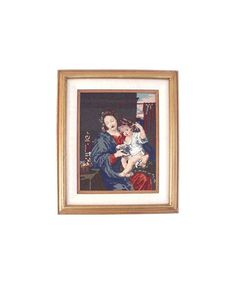 Vintage Framed Completed NEEDLEPOINT Mary by therecyclingethic