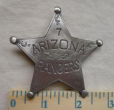 Arizona Ranger Badge in our ebay store