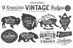 Check out American Vintage Badges Part.2 by OpusNigrum on Creative Market