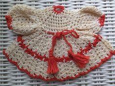 Vintage Hand Crochet Red White Lace Dress Pot Holder Potholder | eBay