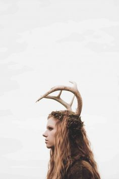 Girl as a deer, girl with antlers, red hair, redhead,  gorgeous, photography,  www.calebmorinphoto.com