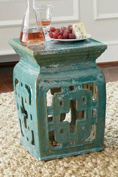 Hakoda Garden Stool - Glazed Ceramic Stools, Chinese Ceramic Stool, Outdoor Stools   Soft Surroundings