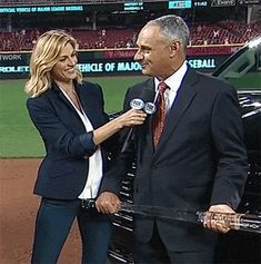 bat gets a little too close to Erin Andrews