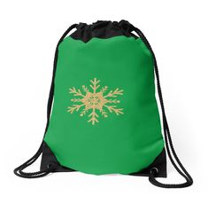 'Golden Glitter Sparkle Snowflake on Christmas Holly Green' iPhone Case by podartist Custom Drawstring Bags, Drawstring Backpack, Golden Glitter, Iphone Wallet, Sell Your Art, Iphone Case Covers, Snowflakes, Sparkle, Evergreen