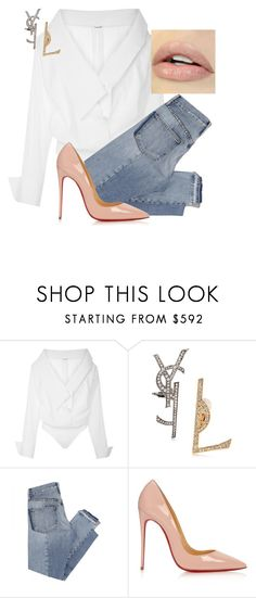 """""""Untitled #226"""" by nelafashion ❤ liked on Polyvore featuring Johanna Ortiz, Yves Saint Laurent, Mix Nouveau and Christian Louboutin"""