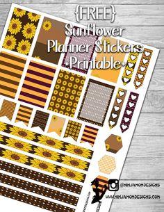 {FREE} Sunflower Planner Sticker Printable