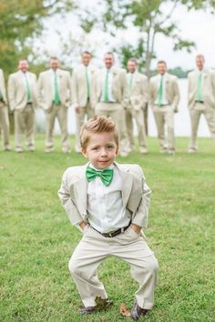 I like the idea of having the ring bearer in the foreground & groomsmen in the background!!