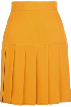 Gucci - Pleated silk and wool-blend crepe mini skirt : Gucci Pleated Skirt, Dress Skirt, High Waisted Skirt, African Attire, African Fashion Dresses, Full Skirts, Mini Skirts, Work Attire, Mode Style