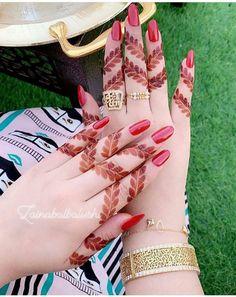 Creative Finger Mehndi Designs for Brides images on Designspiration Full Mehndi Designs, Latest Henna Designs, Henna Art Designs, Stylish Mehndi Designs, Mehndi Designs For Beginners, Mehndi Design Pictures, Mehndi Designs For Girls, Wedding Mehndi Designs, Khafif Mehndi Design