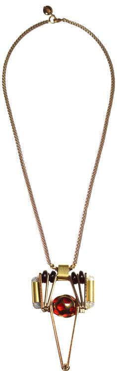 [SCHO] STAR RED SIMPLE NECKLACE