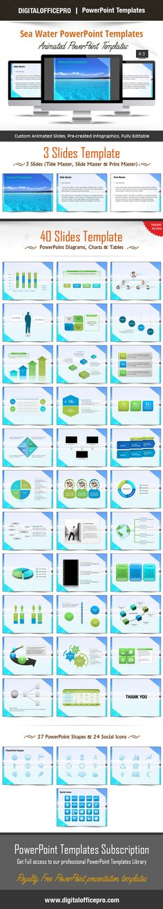 Impress and Engage your audience with Sea Water PowerPoint Template and Sea Water PowerPoint Backgrounds from DigitalOfficePro. Each template comes with a set of PowerPoint Diagrams, Charts & Shapes and are available for instant download.