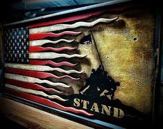 Rustic American Flag, Iwo Jima Flag, I Stand, American Battle Flag Police Flag, Police Officer Gifts, Old American Flag, American Soldiers, American Pride, Iwo Jima Flag, Rustic Wall Art, Rustic Wood, Rustic Signs