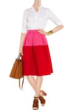 Saint Tropez stretch cotton-twill skirt by Preen Line