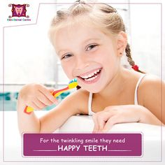 Your kids oral health is important for overall health. Keep your kids happy and healthy by taking them to a pediatric dentist at regular bases. #KidsSmile #Dentist #Pediatrics