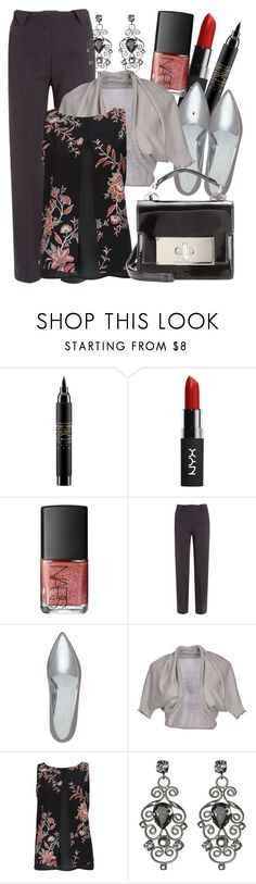 """""""Untitled #2131"""" by aannggiiee ❤ liked on Polyvore featuring MAC Cosmetics, NYX, NARS Cosmetics, Just Cavalli, Nine West, Manila Grace, Wallis, LK Atelier and Marc Jacobs"""