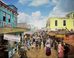 Browse through images in Mike Savad's City Life collection. Give them the gift of the big city. Makes sense, the city dwellers dress their kitchens with country scenes. Far Rockaway, Rockaway Beach, Show Cattle, Antique Show, Country Scenes, Norman Rockwell, Beautiful Lights, City Life, Street View