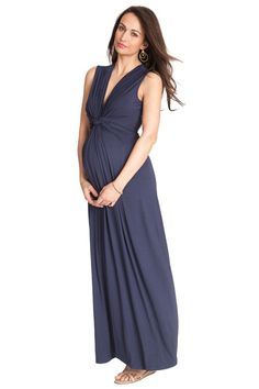 Seraphine Jo Knot Front Maternity And Nursing Maxi Dress | Maternity Clothes   www.duematernity.com