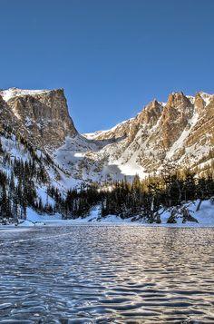 Dream Lake, Rocky Mountain National Park, Colorado.