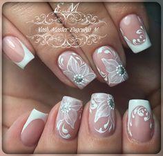 Фотография Pretty Nail Designs, Pretty Nail Art, Fall Nail Designs, Elegant Nail Art, Different Nail Designs, Wedding Nails Design, Nail Patterns, Bridal Nails, Dope Nails