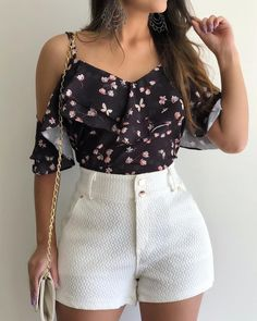 46 - Summer season clothes of 2019 year, Mode Outfits, Short Outfits, Trendy Outfits, Dress Outfits, Fashion Dresses, Look Fashion, Girl Fashion, Womens Fashion, Spring Summer Fashion