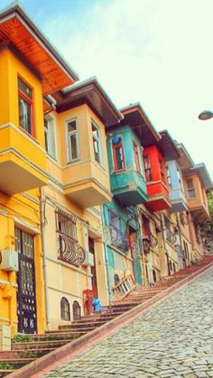 Balat, Istanbul, TUR beautiful places for travel Places Around The World, Oh The Places You'll Go, Travel Around The World, Places To Travel, Travel Destinations, Places To Visit, Around The Worlds, Istanbul Guide, Sainte Sophie